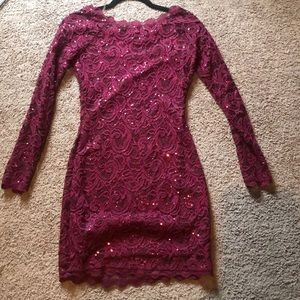 Sequin hearts formal dress . Only worn once